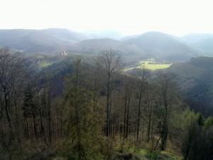 Fleckenstein as seen from Hohenbourg