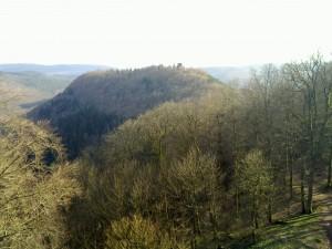 Hohenbourg as seen from the Wegelnburg