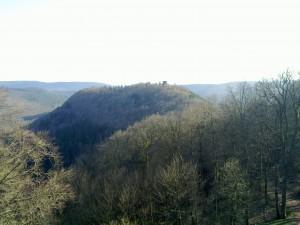 Hohenbourg as seen from the Wegelnburg II