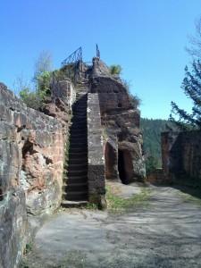 Medieval stair inside Blumenstein