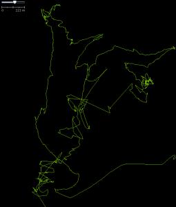 A track of a WBT-201 in JOSM