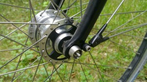 Front hub dynamo and Pitlock