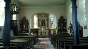 L'église de Niederlauterbach...