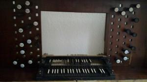 The original console of the sun organ