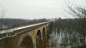 Railway viaduct crossing the Neiße to Poland