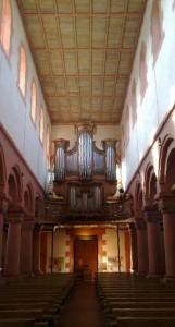 The organ of Schwarzach minster