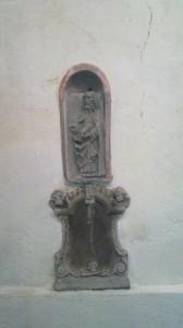 A sculpture of Schwarzach minster