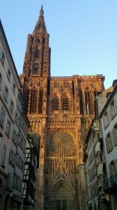 The minster of Strasbourg, with its unfinished right tower