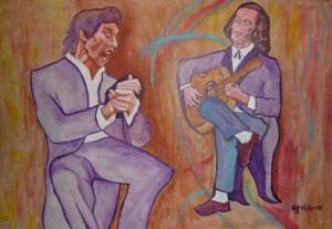 Paco de Lucia (right), via wikipedia commons, public domain