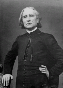 Franz Liszt by Pierre Petit, via Wikipedia, Public Domain