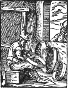 Sieves, AD 1568 (wikimedia commons, public domain)