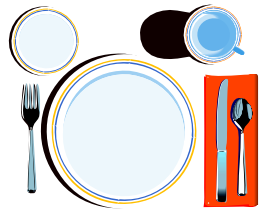 Dishes (openclipart.org, public domain)
