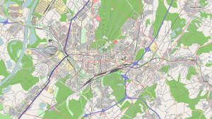 Karlsruhe Vector Rendering in MoNav (Data by openstreetmap.org and its contributors, CC_by-SA)