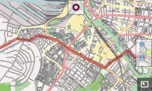 Displaying a tracklog using openstreetmap.org data (CC-by-SA)
