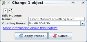JOSM presets - Museum Dialog