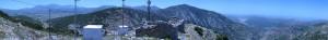 Panorama of the pass of ambelos