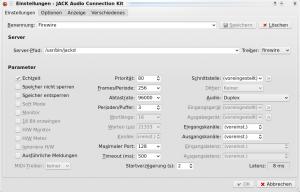 QJackControl Firewire Settings