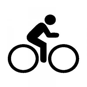 Biker pictogram (openclipart.org, public domain)