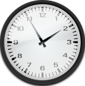 Analog Clock (SVG from openclipart.org, public domain)